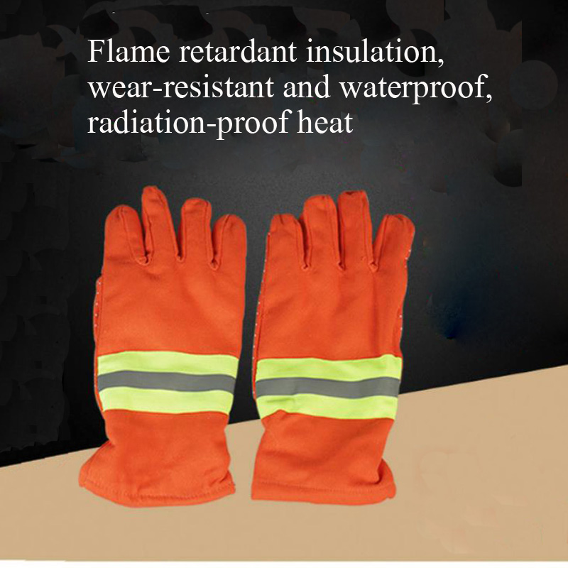 Orange Safety Firefighter Fire Gloves Insulation Heat Insulation Flame Retardant Anti-radiation Gloves Fire Static Gloves DST036