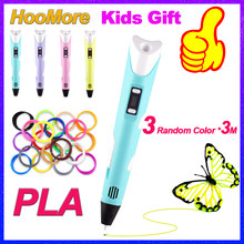 HooMore Original 3D Pen PLA Filament Printing Pen Creative Toy Birthday Gift For Kids Design Drawing DIY Pen With LCD Display