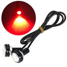 цена на 23mm Red Eagle Eye Light 9w Dc 12v Car Led Daytime Running Light Drl Backup Car Motor Parking Signal Lamps Waterproof Fog Light