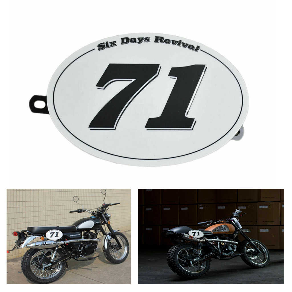 Abs Vintage Motorcycle Modified Cafe Racer Climbing Number Table Number Plate No 71 No 216 For Moto Cafe Racer Tracker Scrambler License Plate Aliexpress