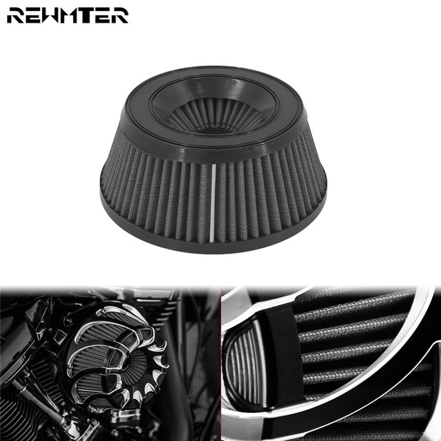 Motorcycle Air Cleaner Intake Filter Inner Element Replacement Gray For Harley Touring XL Sportster Softail Dyna Road King Glide