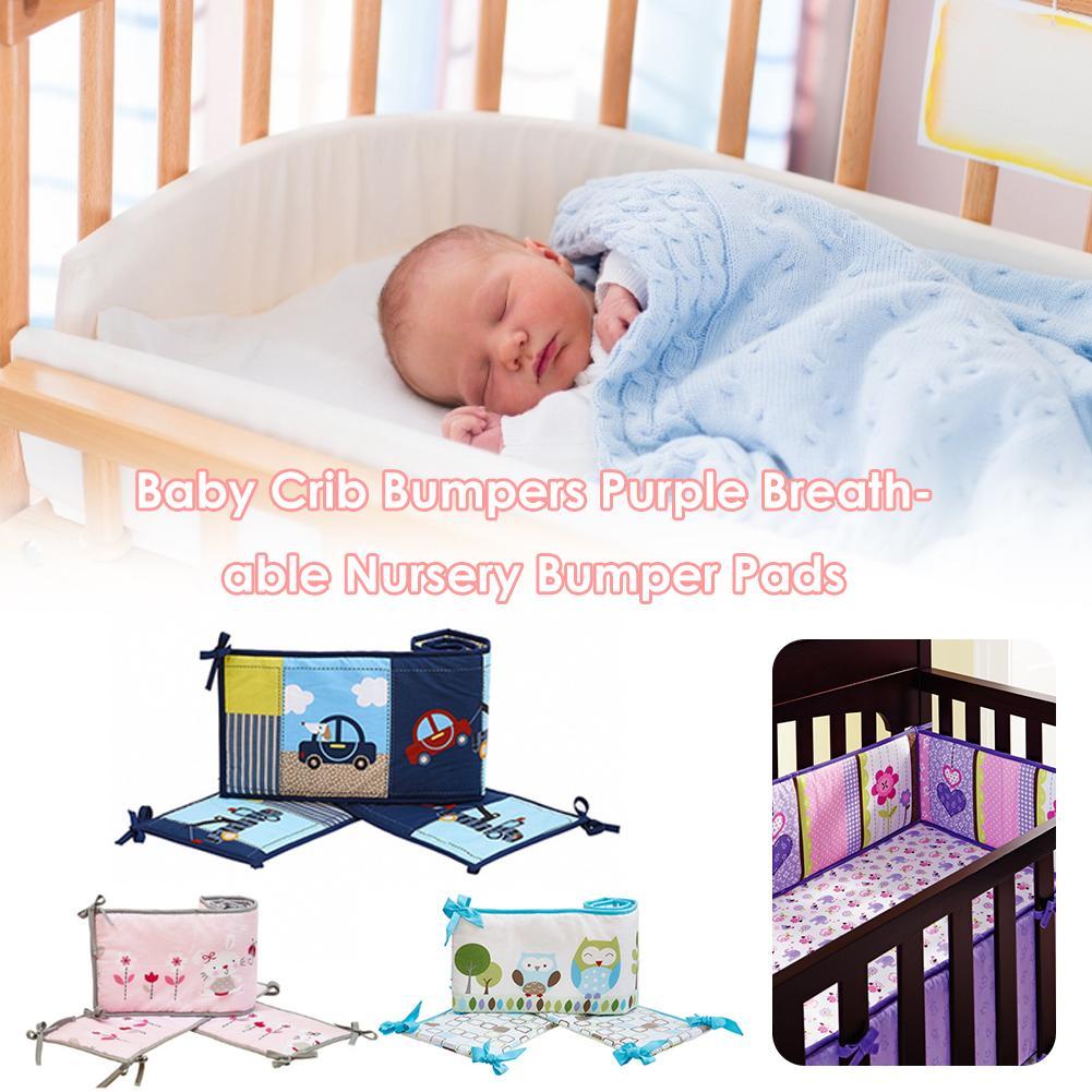 Baby Crib Bumper Infant Bedding Nursery Colorful Cloth Book Rattles Comfy Plush