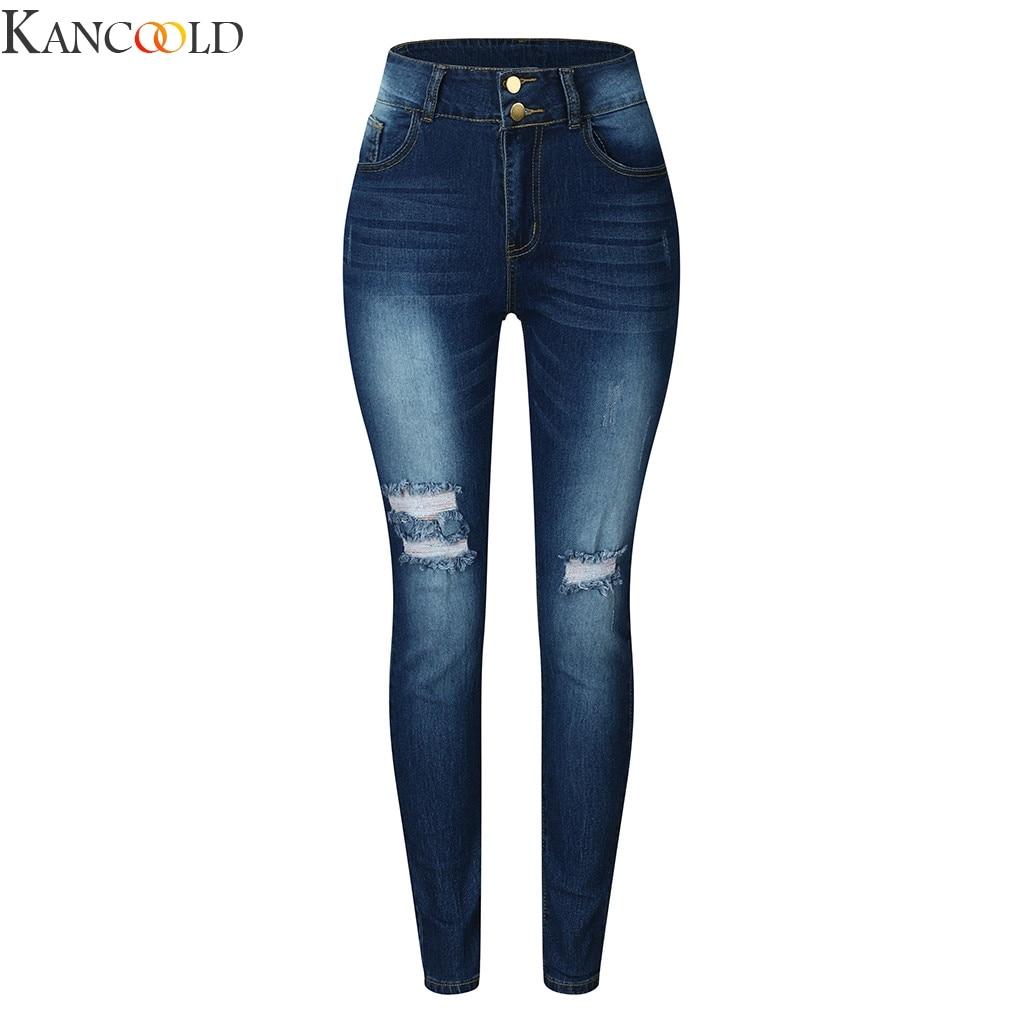 Slim Jeans For Women Skinny High Waist Jeans Woman Blue Denim Pencil Pants Stretch Waist Women Jeans Pants Calca Feminina