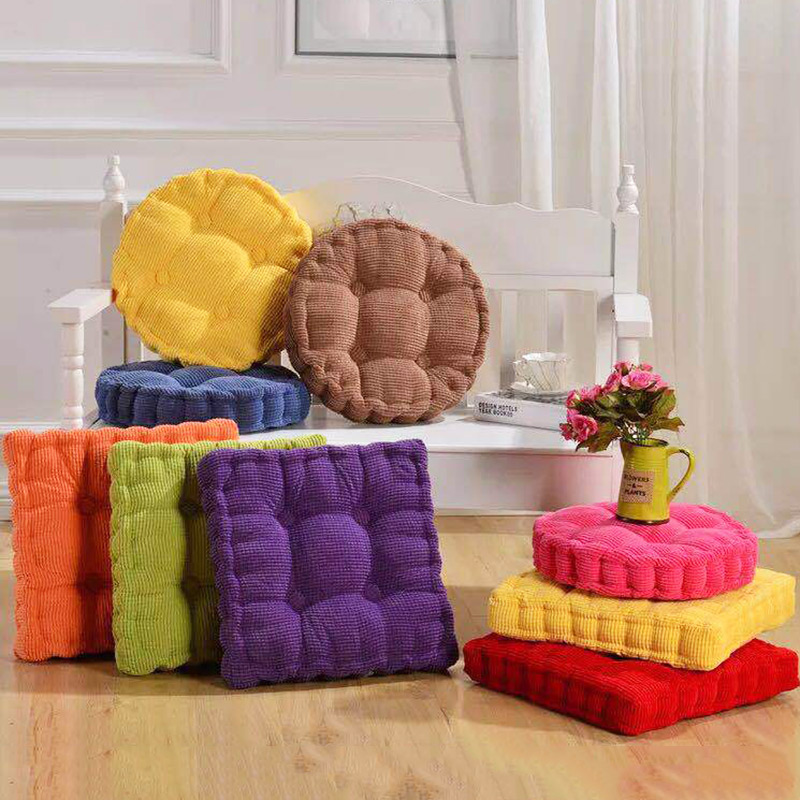 Corduroy Tatami Mat Office Outdoor Chair Sofa Seat Cushion Home Decor Textile  Floor Knee Pillow Buttock Cushion Sofa Square Pad