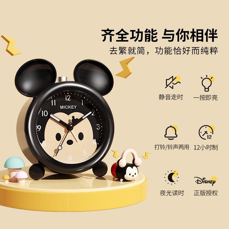 Disney будильник часы высокий громкость будильник часы отключение звука мультфильм милый прикроватный часы% 2C подходит для начальной школы школьников и детей