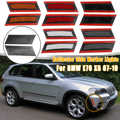 Pair Front Bumper Left + Right Reflector Side Marker Lights For BMW E70 X5 2007 2008-2010 Without Bulbs Black/Red/Grey/Yellow