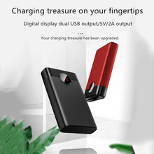 10000mAh Power Bank Dual USB Portable LCD Powerbank External Battery Charger Pack for Mobile Phones