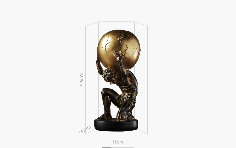Ancient Greek Atlas Character Model Statue Decoration Ornament Sculpture Home Office Desk Decorative Ornament Accessories Gift