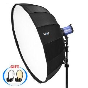 Image 1 - Параболический Зонт Selens 65 см с отражателем, софтбокс для салонов красоты, лампа для фотовспышки, сумка для переноски