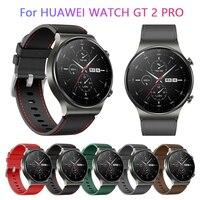 Horloge Band 22Mm Lederen Band Voor Huawei Horloge 3 Gt 2 Pro Horloge Riem Vervangingen Honor Magic 1 2 46Mm Horloge Heren Riem