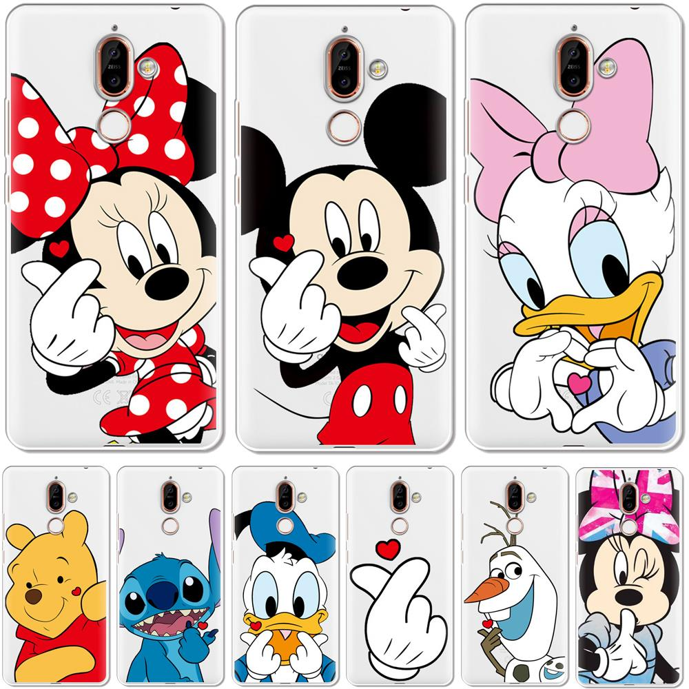Cute Cartoon Soft Silicone TPU Phone <font><b>Case</b></font> Cover For <font><b>Nokia</b></font> 1 3 5 8 6 2 7 2.1 2.2 3.1 5.1 7.1 Plus <font><b>2018</b></font> X71 4.2 Phone <font><b>Cases</b></font> Coque image