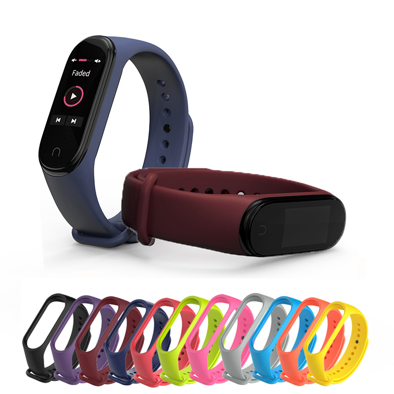 Xiao MI Silicone Replacement Wristband Bracelet Watchband For Xiao MI Mi Band Miband 4 3 Band4 Wrist Strap Accessories