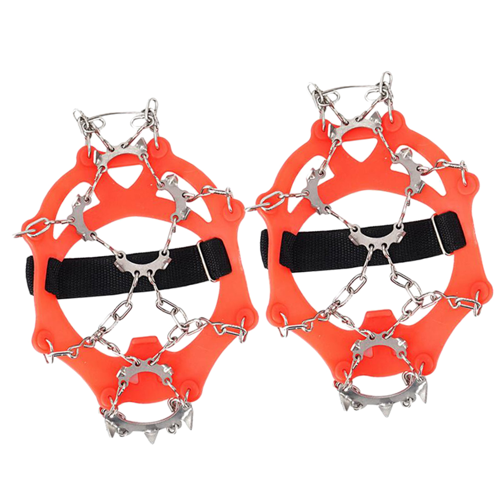 1 Pair Universal Size Walk Traction Cleats for Walking on Snow and Ice,