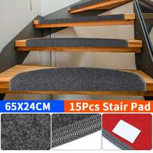Rugs Carpet-Mat Stair-Pads Anti-Slip Home for Sticky-Bottom Self-Adhesive 65x24cm Repeatedly-Use