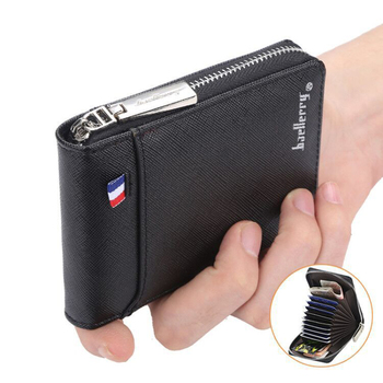 Multifunction Wallet Men Leather Men Wallets Purse Short Male Leather Wallet Mens Money Bag Quality Guarantee image
