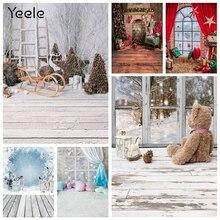 Yeele الشتاء شجرة عيد الميلاد الثلوج المشهد الطفل الطفل التصوير خلفية التصوير الديكور الخلفيات للصور استوديو