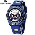 MEGALITH мужские часы Топ бренд класса люкс водонепроницаемый хронограф Дата светящиеся стрелки часы для мужчин спортивные наручные часы Reloj ...