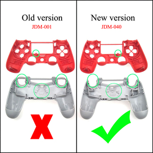 Image 3 - JCD 1PCS PS4 프로 컨트롤러 JDS040 JDS 040 전면 후면 커버 듀얼 쇼크 4 슬림 게임 패드에 대 한 플라스틱 하드 하우징 셸 케이스