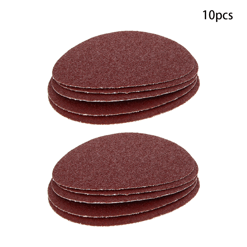 Durable 5/10/15pcs 5-inch 125mm Gum Disc Sandpaper Aluminium Oxide Practical Abrasive Tools For Grinding 40/60/80/100 Grit