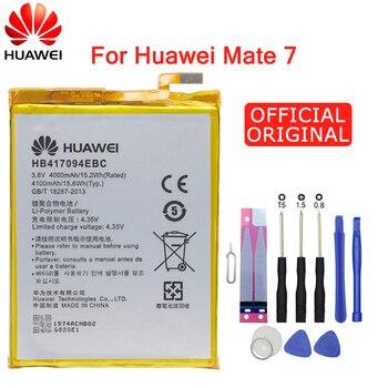 Hua Wei оригинальная запасная батарея для телефона HB417094EBC для huawei Ascend mate 7 MT7 TL00 TL10 UL00 CL00 4000/4100mAh Бесплатные инструменты