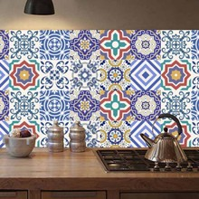 20 шт., имитация плитки, простой европейский стиль, наклейки для дома, наклейки на стену, сделай сам, водонепроницаемые, маслостойкие, плитка для ванной, кухонные наклейки