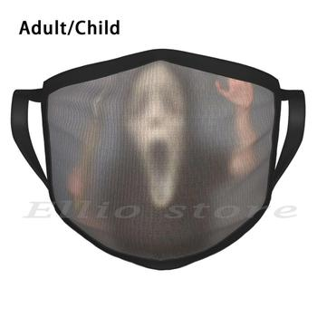 Mini Scream Adult Kids Anti Dust DIY Scarf Mask Scream Wes Craven Sydney Whats Your Favorite Scary Movie Creepy Kids Ghost Face image