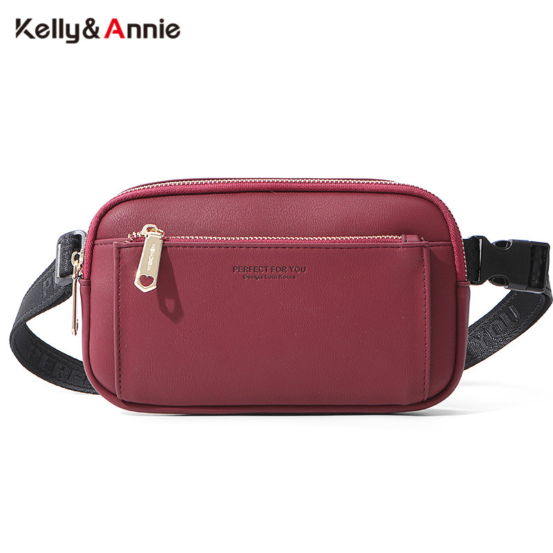 HOT Fashion Multi-function Waist Pack Chest Bag & Crossbody Bag Ladies Belt Bag Bum Pochete Sac Female Leather Women Fanny Pack
