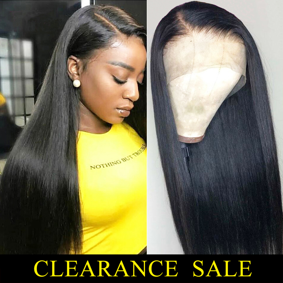 Lace Front Wig Brazilian Hair Remy Straight Real Human Hair Topper For Black Women 8-26 Inch 13x4 150% Lace Front Human Hair Wig