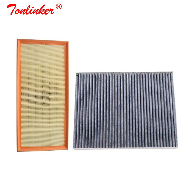 Cabin Filter Air Filter 2 Pcs For Audi Q7 4L 2006 2015 3.0TDI 3.6FSI 4.2TDI Model Built External Filter Set 7H0819631 7L0129620-in Cabin Filter from Automobiles & Motorcycles