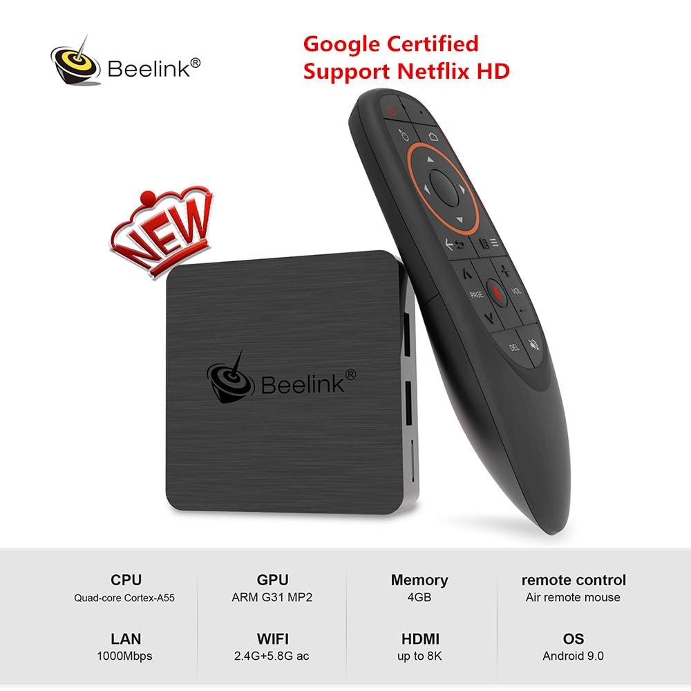 Beelink GT1mini-2 Smart TV Box Unterstützung Netflix HD IPTV Amlogic S905X3 Android 9.0 4GB 64GB Media Player Dual WiFi stimme Fernbedienung