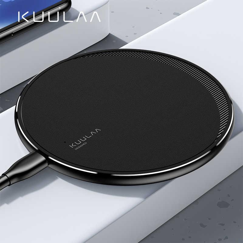 KUULAA Qi kablosuz iphone şarj cihazı 11 Pro 8 X XR XS Max 10W hızlı kablosuz samsung için şarj S10 S9 S8 USB şarj aleti pad