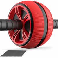 ABS Addominale Rullo Ruota di Esercizio Attrezzature Per Il Fitness Muto Rullo Per Le Braccia Posteriore Del Ventre Core Trainer Forma Del Corpo Articoli per addestramento e gioco