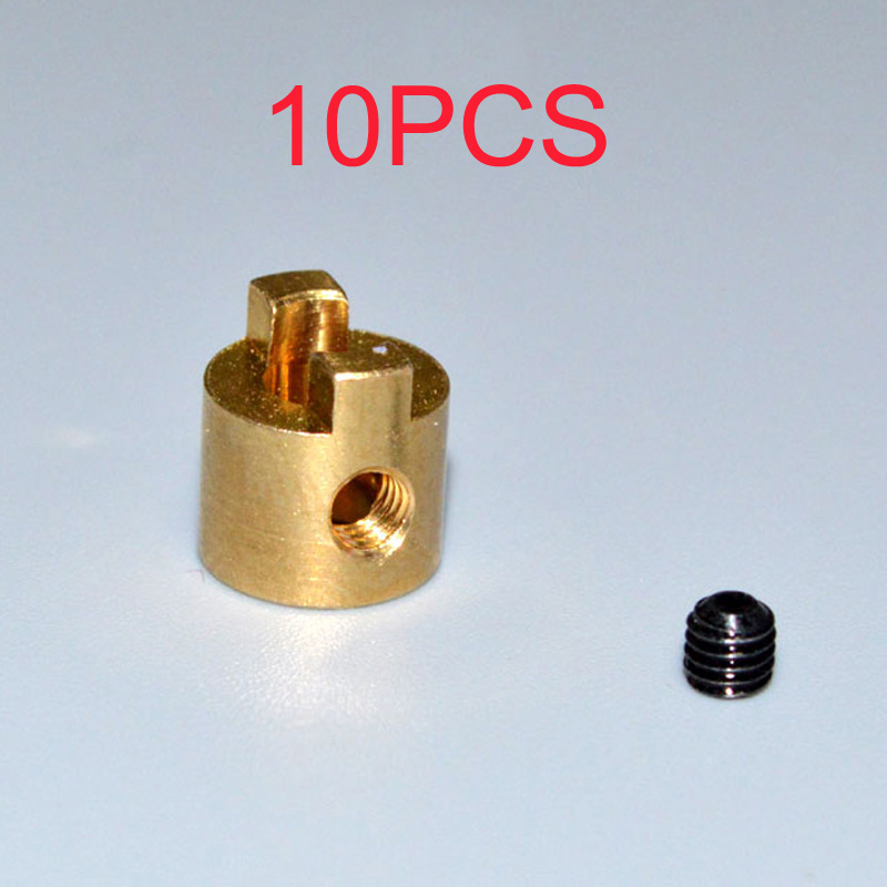10PCS 3mm 4mm CNC Drive Dog RC Speedboat DIY Propeller Crutch w Set Screw Oarlock Shaft Lock Spare Parts for  Boat Model