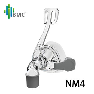 Image 3 - BMC NM2/NM4 Nasal Mask CPAP Mask Sleep Mask with Headgear S/M/L Different Size Suitable For CPAP Machine Connect Hose and Nose