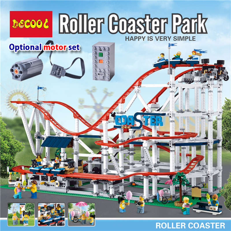 18003 CREATOR Roller Coaster Building Blocks Bricks Compatible lepinglys 10261 Educational Toys for Children birthday Gift 1125