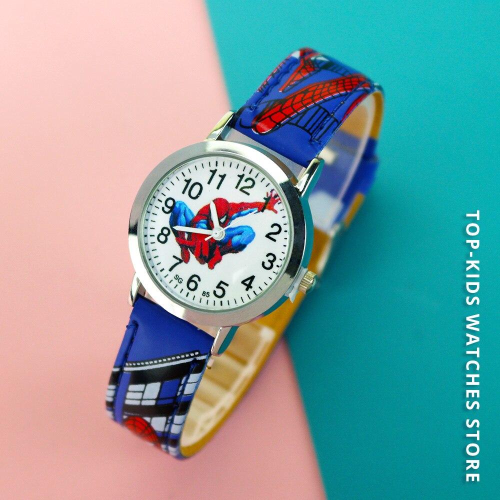 Мультфильм +Дети часы мальчики круто узор кожа ремешок дети наручные часы младенец запястье relogio infantil Montre Enfant