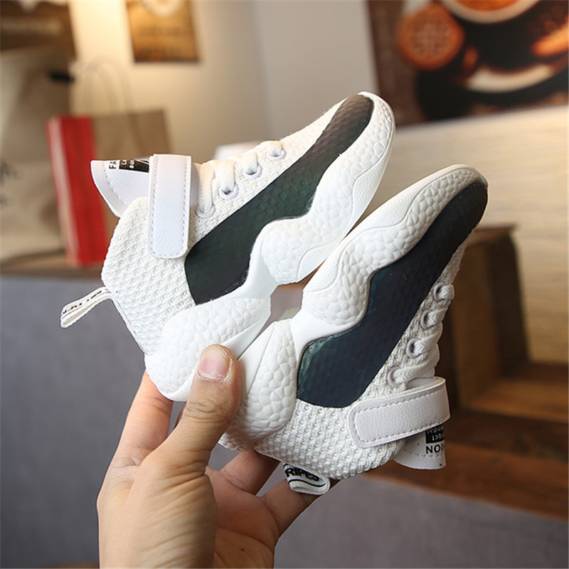 Girls Sneakers Air Mesh Breathable Running Shoes 2019 New Fahion Boys Sport Light Wight Casual Leisure Vulcanize Shoes Platform in Sneakers from Mother Kids
