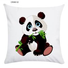 CR080 Cartoon Panda Super Soft Pillow Case Home Sofa Decoration Hug Pillowcase Soft And Comfortable(China)