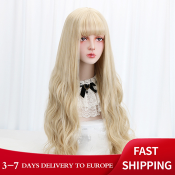 Free Beauty Long Wavy Synthetic Blonde 32
