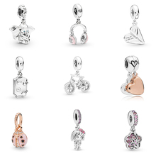 Valentines Colletion 100% 925 Sterling Silver Mickey Charm Fit Pandora Bracelet Beads For Jewerly Making Gift