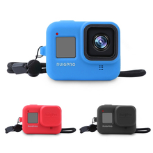 Soft Silicone Case for GoPro Hero 8 Black Protective Full Cover Shell for Go Pro Hero 8 Action Camera Accessories puluz camera soft silicone protective case with lens cap cover for gopro hero 5 black camera for gopro action camera accessories