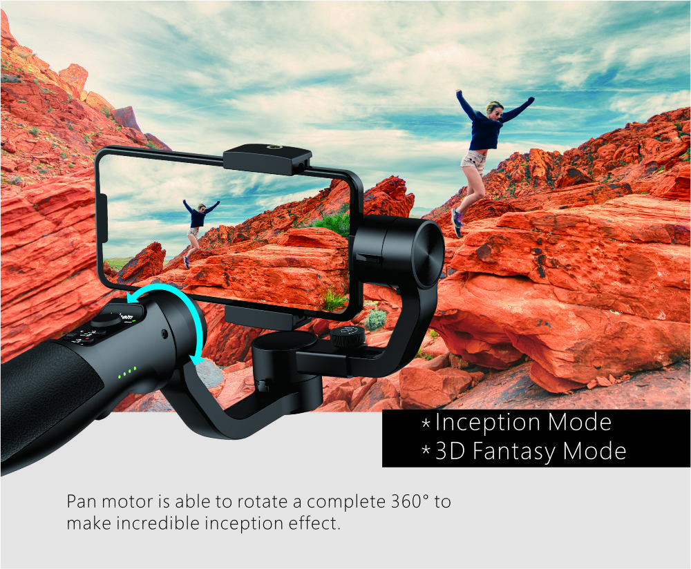 Hohem Smartphone Gimbal 3-Axis Handheld Stabilizer for iPhone11Pro/Max, for Android Smartphones, Samsung S10,iSteady Mobile Plus