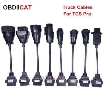 Gorąca sprzedaż ciężarówka kable OBD2 OBDII kabel samochodowy narzędzie diagnostyczne dla ciężarówek przewód połączeniowy 8 sztuk ciężarówek kable tanie i dobre opinie OBDIICAT CN (pochodzenie) cdp cables english Czytniki kodów i skanowania narzędzia