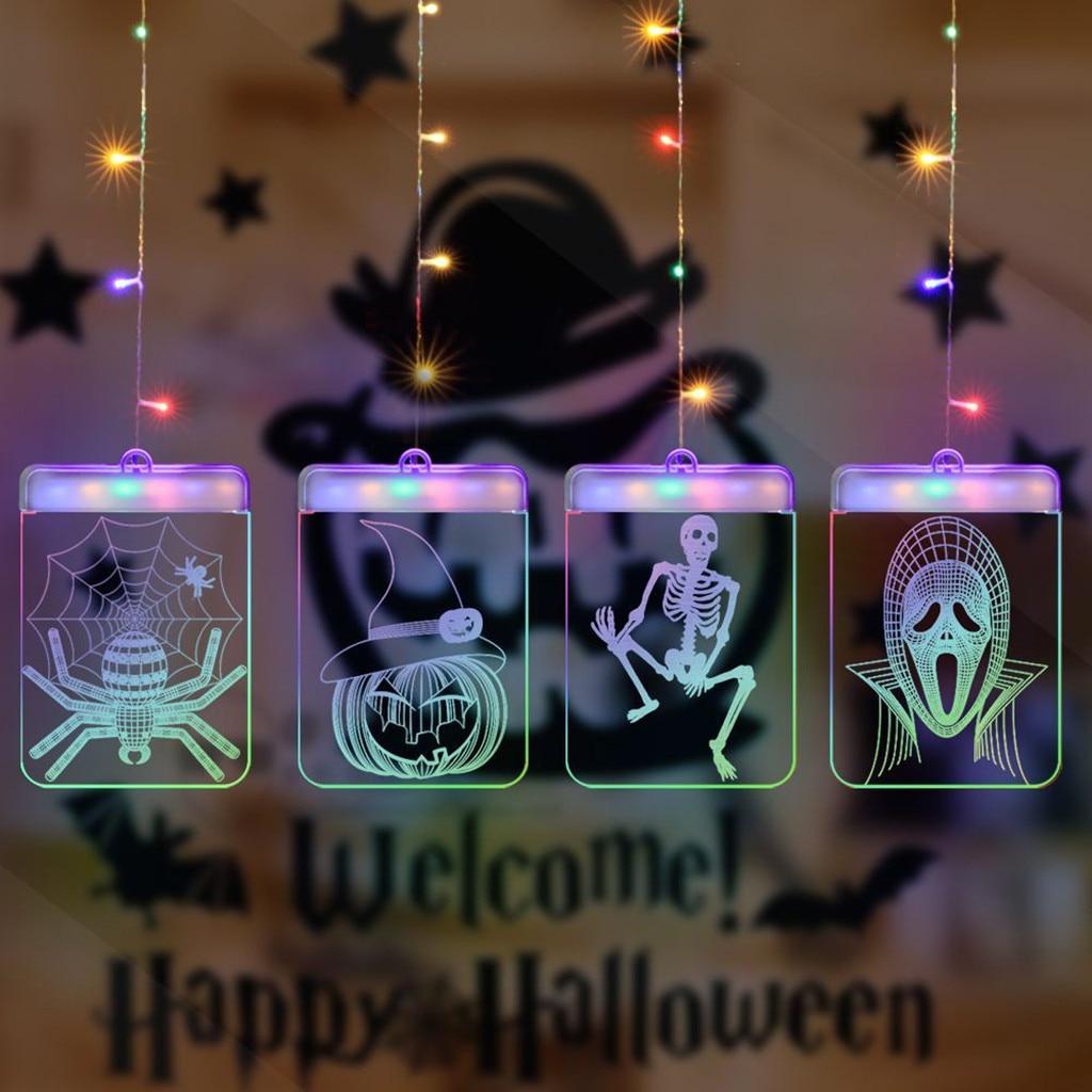 LED 3D USB Halloween Festival Room Decoration Hanging Lights Night Lights Party Decor Lighting Strings