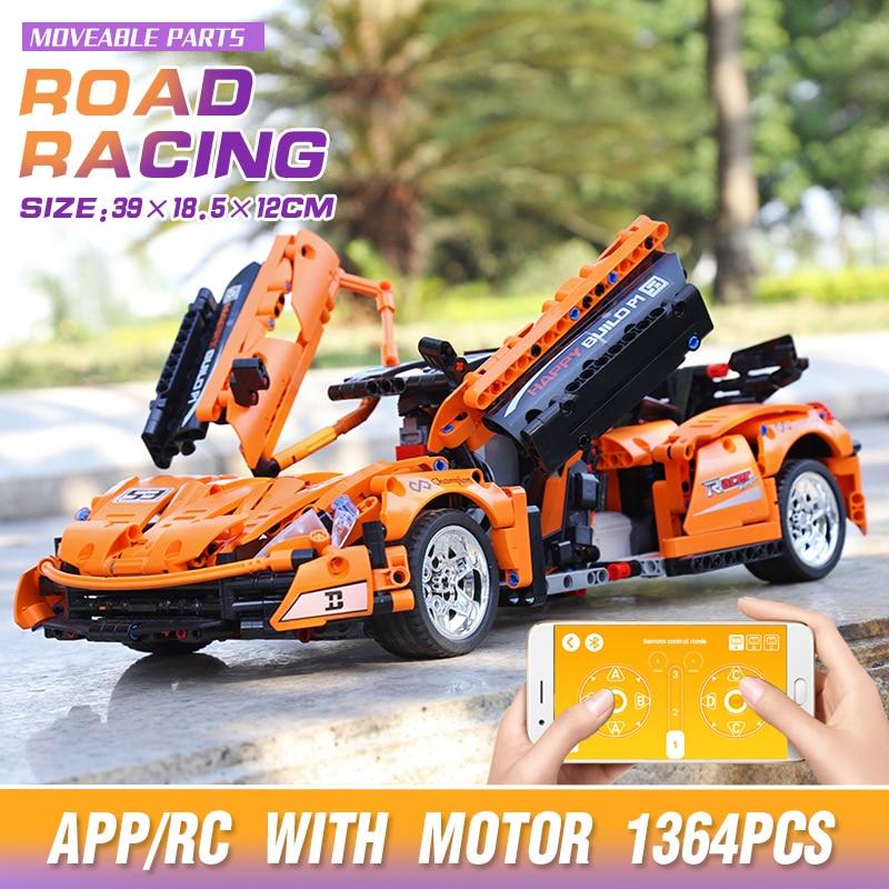 Yeshin 20087 APP High-Tech Car Compatible With MOC-16915 Super P1 Hypercar Car Model Building Blocks