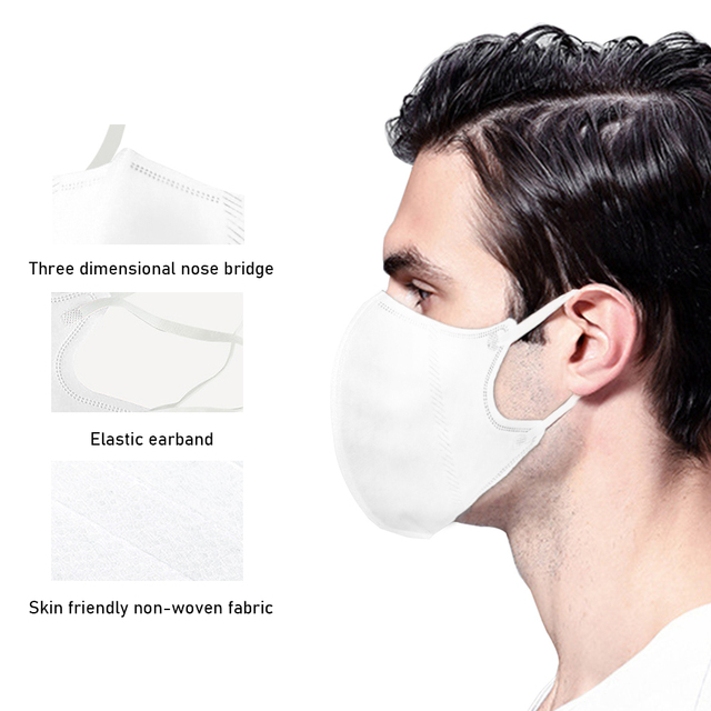 5pc PM2.5 Mouth Mask High Quality  Anti Dust Mask Windproof Mouth-muffle Bacteria Proof Flu Face Masks 2