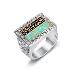 Кольцо из нержавеющей стали 316L, Винтажное кольцо для мужчин и мальчиков, арабское, муравейское, испанское, золотое, серебряное, кольцо на пал...