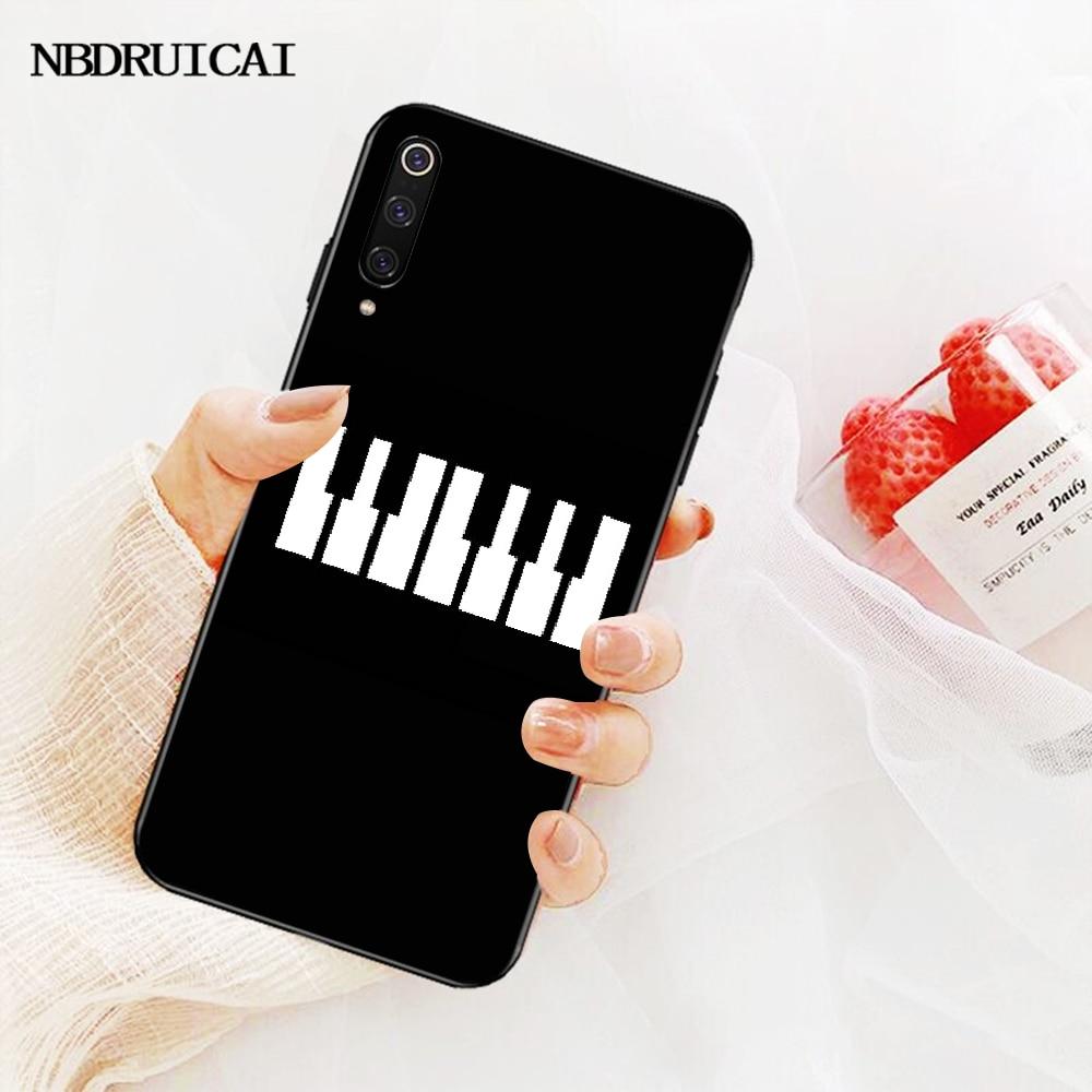 NBDRUICAI I Love Musica per Pianoforte di TPU Molle Del Silicone Copertura Della Cassa Del Telefono per la Nota Redmi 8 8A 7 6 6A 5 5A 4 4X 4A Go Pro Plus Prime