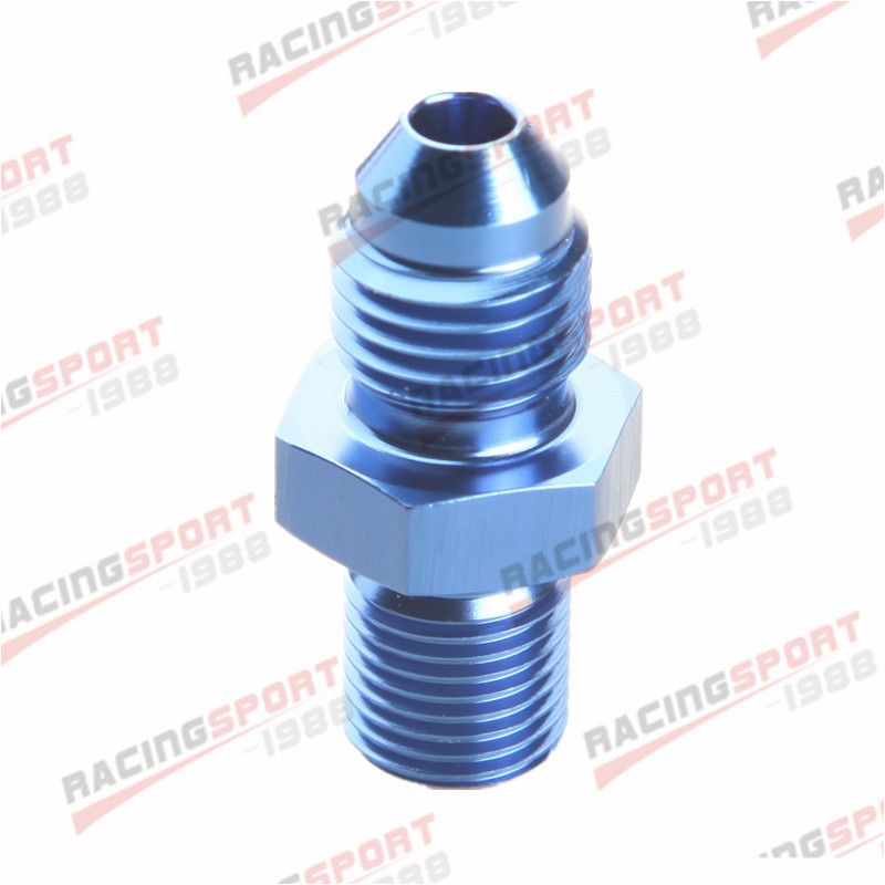 12 AN 12 AN AN 12 Flare To M18 x 1.5 Metric Straight Fitting Blue Male