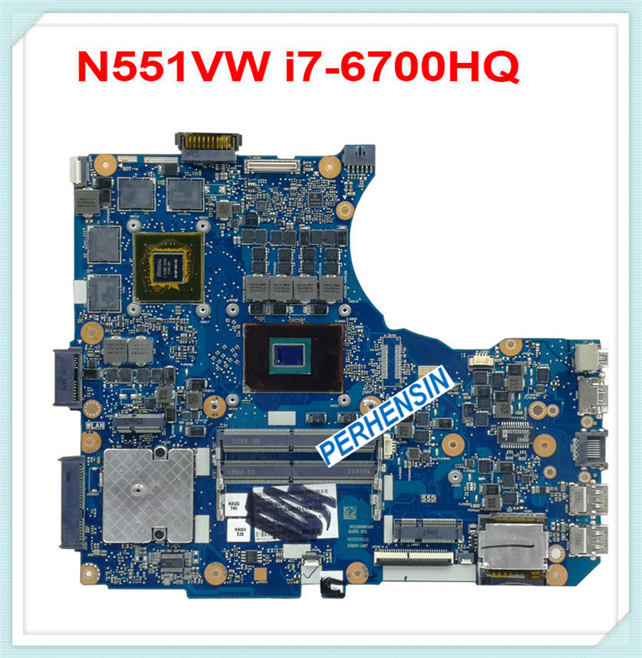For <font><b>ASUS</b></font> <font><b>N551V</b></font> N551VW G551V G551VW FX551VW i7-6700HQ CPU Motherboard GTX 960M/GTX950M 100% tested good image